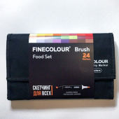 "Набор Finecolour BRUSH ""Еда"" (24 цвета)"