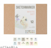 SKETCHMARKER WHITE SET 12
