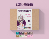 SKETCHMARKER ANTIQUE PINK SET 12